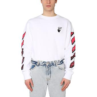 Off-white Omba025r21fle0040125 Männer's weiße Baumwolle Sweatshirt