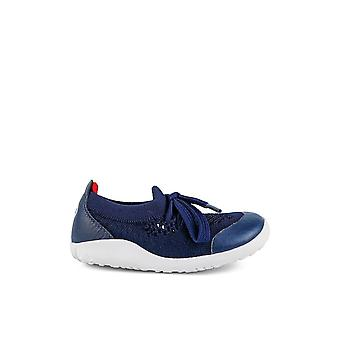 BOBUX Play Knit Shoe In Navy And Red