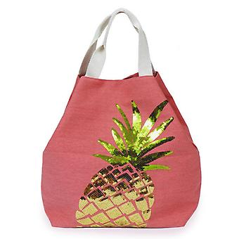 Powder Boho Pineapple Beach Bag | Coral