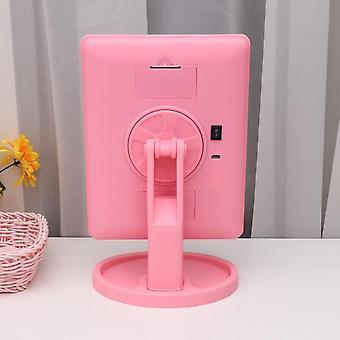 16 ايض سطح المكتب مستحضرات التجميل مرآة usb لمس الشاشة مرآة ماكياج مع علبة تخزين )