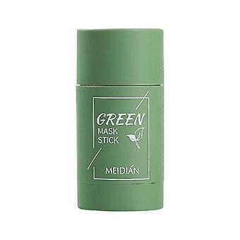 Grön te rengöring lera pinne mask