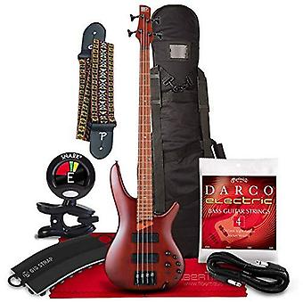 Ibanez sr500e standard 4-string electric bass - 24 frets - brown mahogany w/guitar bag, strap, tuner, and complete bundle