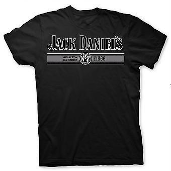 Jack Daniel's Logo Quality and Craftsmanship Since 1866 Black T-Shirt