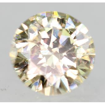 Cert 0.34 Quilates Fancy Amarelo VS1 Rodada Brilhante Diamante Natural Aprimorado 4.61mm