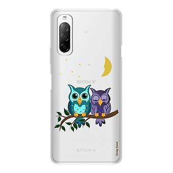 Runko Sony Xperia 10 Ii Silikoni joustava 1 mm, Kuutamo pöllöt