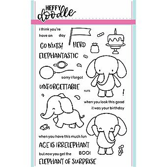 Heffy Doodle Elephant of Surprise Clear Stamps