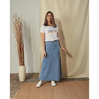 Jade organic denim skirt