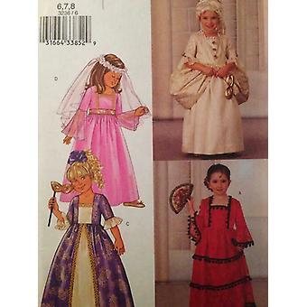 Butterick نمط الخياطة 3236 الفتيات الطفلات اللباس حجم 2-5 غير المصقول