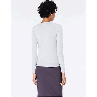 Brand - Meraki Women's Lightweight Cotton V-Neck Sweater