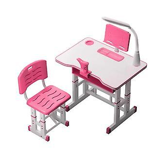 Kinder studieren Hausaufgaben Schreibtisch Stuhl