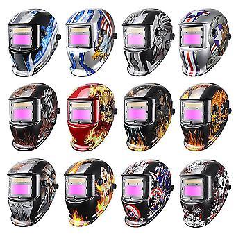 太阳能自动变暗焊接面罩头盔/盖/镜头