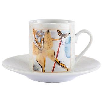 Enesco Dali Extravaganza Espresso Cup & Saucer (set Of 2)
