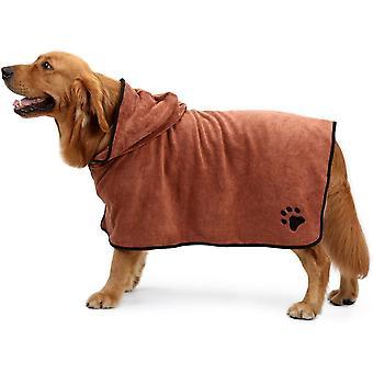 Pet Bath Towel Microfiber Drying Robe Moisture Absorbing Coat For Dog