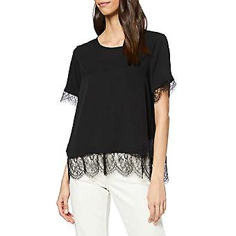 French Connection Chika Mix T-Shirt, Black, Small Woman