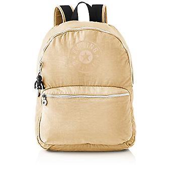 Kipling Kiryas, Backpacks Unisex-Adult, Beige/Black, 12.5x32.5x44 cm