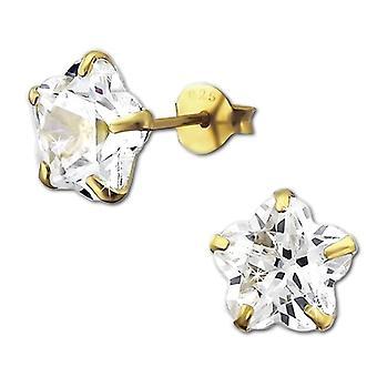 925 Sterling woman-earrings SilberDream silver with white zircons VSDO9128YW