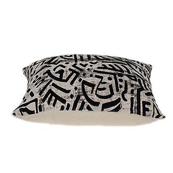 Schwarz und weiß abstrakte samt werfen Kissen
