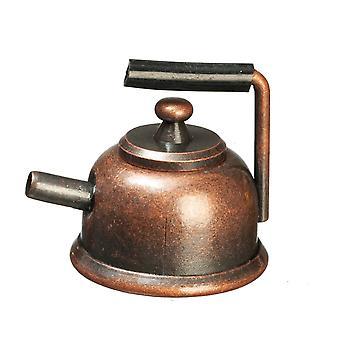 Nuket Talo Antiikki Pronssi Vedenkeitin Metalli Teekannu Miniatyyri 1:12 Keittiö lisävaruste