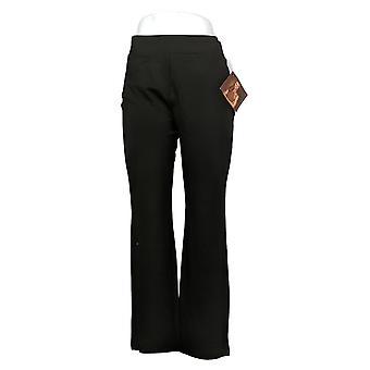 إيمان العالمية شيك المرأة السراويل ريج 360 سليم بونتي التمهيد قص الأسود 722609001