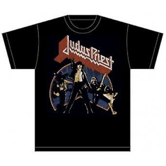 Judas Priest Unleashed v2 Mens Black TShirt: Large