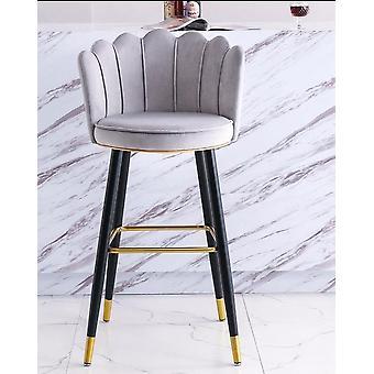 Light Luxury High Bar Stool Chair Front Restaurant Balcony