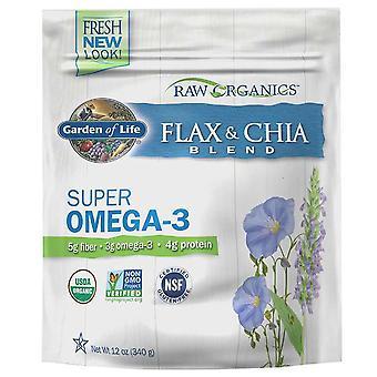 Garden of Life Raw Organics Biologische Vlasmeel + Chia Zaden, 12 Oz