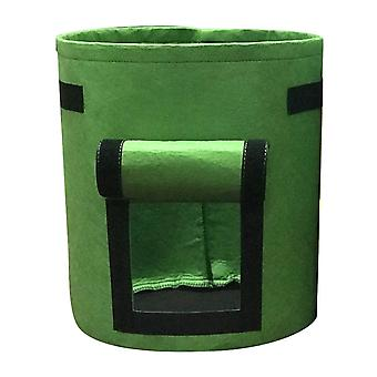 Green 35*40cm non-woven visual planting bag homi2580