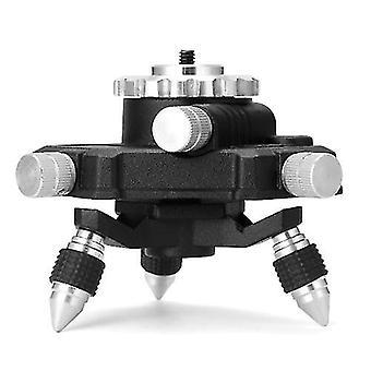 360 ° drehbare Aluminiumlegierung Halterung Basis 1/4 '' Schnittstelle Feineinstellung Stativ Ständer für Laser