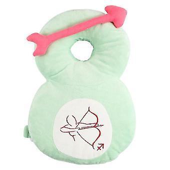Hovedbeskytter til babyjusterbar sikkerhedspuderygsækpude antifaldpudehoved (grøn)