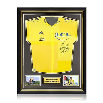 Geraint Thomas allekirjoitti Tour De France 2018 Yellow Jerseyn. Superior-kehys