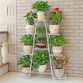 Étagère d'exposition de plantes métalliques de jardin