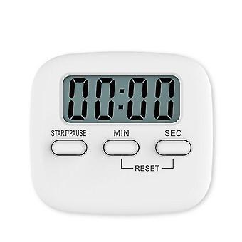 LCD Digitaalinen Näyttö Keittiö Ajastin Magneettinen Kypsennys Lähtölaskenta Hälytys Sleep Sekuntikello (valkoinen)
