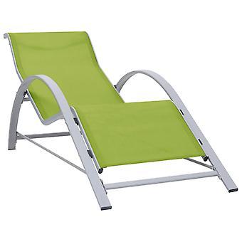 vidaXL Leżak Textilene i aluminium Zielony