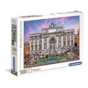 Clementoni Trevi Fountain Korkealaatuinen Palapeli (500 Kappaletta)