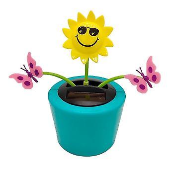 الروبوتية اللعب الشمسية زهرة الحشرات تهز دمية لعبة