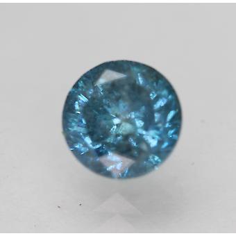 Cert 0,97 Karat Sky Sininen SI2 Pyöreä Brilliant Parannettu Luonnollinen Timantti 5,88mm