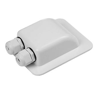 Abs Waterproof Junction Box With Double Cable Entry Gland For Solar Panel