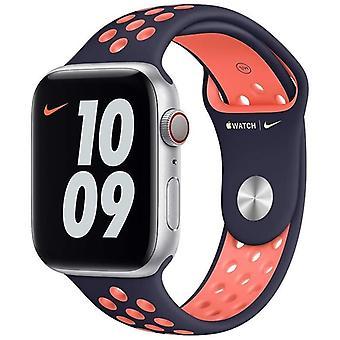 Oficjalny pasek Sportowy Apple Watch Nike 42mm / 44mm / 45mm - Niebieski / Mango