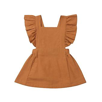 Knee Length Casual Cute Ruffle Princess Party Dress For Baby