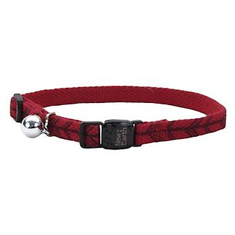 """Coastal Pet New Earth Soy Adjustable Cat Collar - Red with Arrows - 8-12""""L x 3/8""""W"""