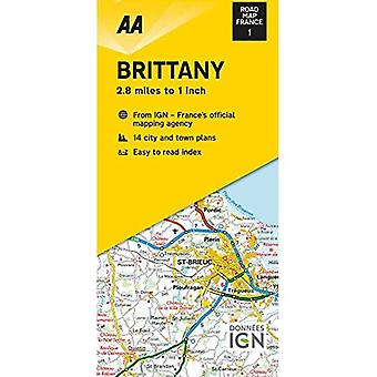 Road Map Brittany (Road Map France)