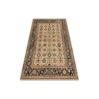 Wool rug OMEGA PARILLO frame jadeit brown