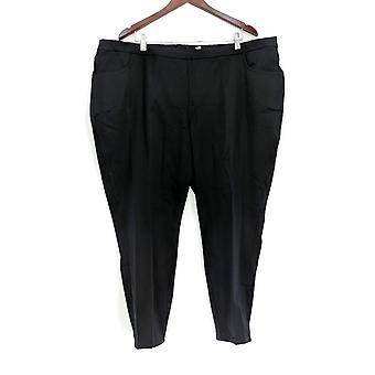 Isaac Mizrahi en direct! Femmes-apos;s Petit Pantalon Stretch Slim Leg Black A309567