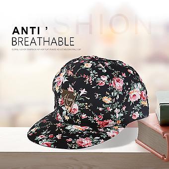 Women Floral Flower Snapback Hip-hop Hat Flat Adjustable Baseball Cap