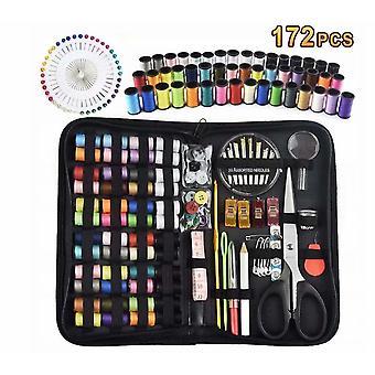 Kit de couture, Boîte à couture, Kit de couture, Kit de couture rectangulaire, Ensemble de 172 pièces