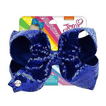 """2pcs 8 """"Paillet Rainbow Jojo Siwa Bow med hår klip for piger Kids Håndlavede Boutique Knot Jumbo Hair Bow HairGrips Hår Tilbehør"""