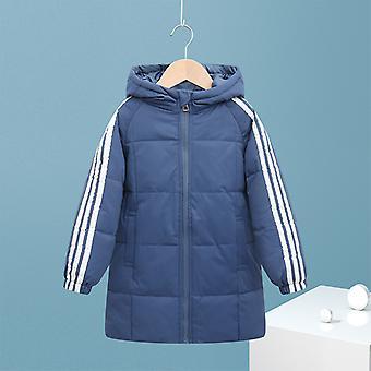 Világoskék gyermek kabát gyermek hosszú kabát fiúk és lányok pamut kabát