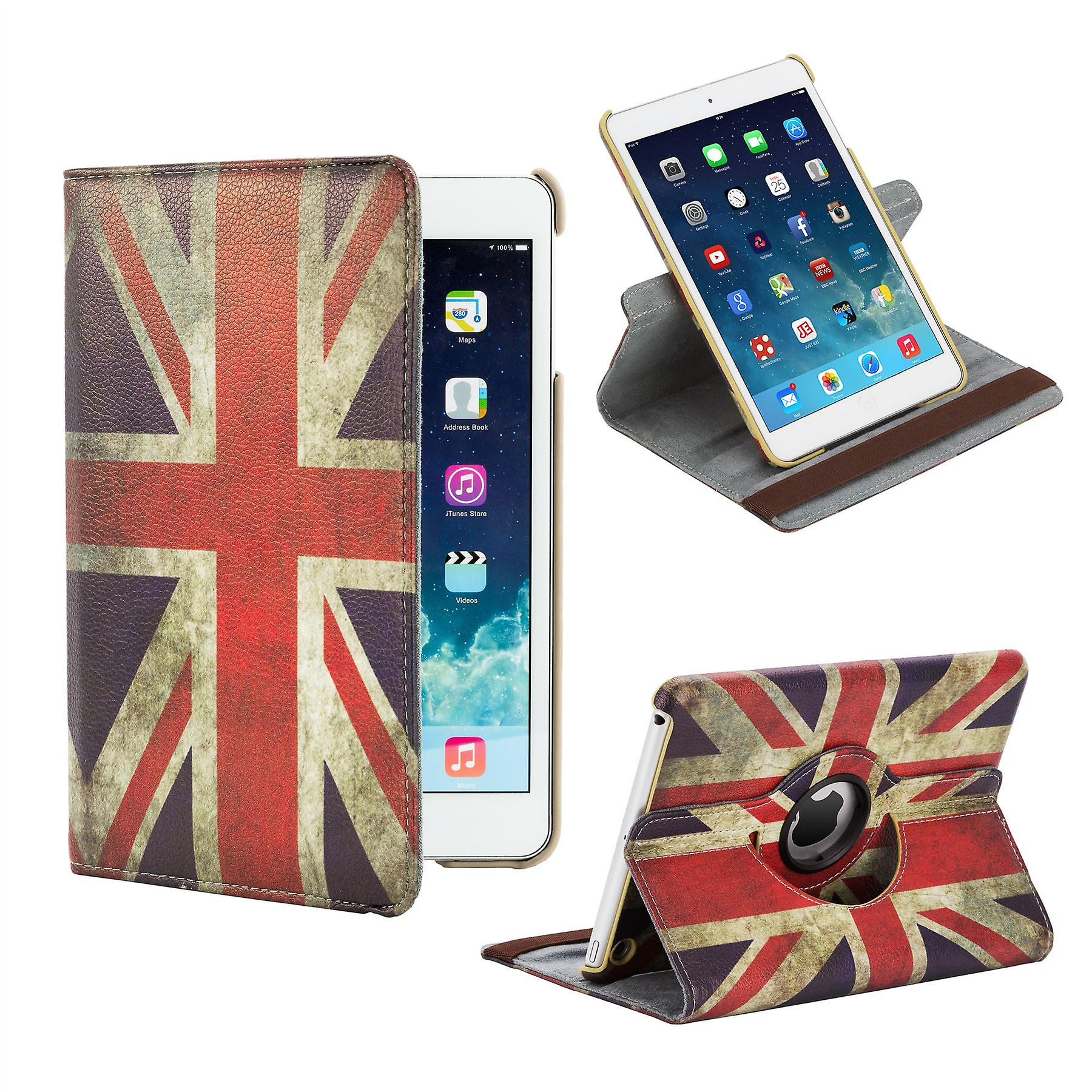 360 degree Design Book case for Apple iPad Mini 4th Gen - Union Jack