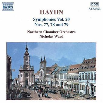 J. Haydn - Haydn: Symphonies Nos. 77, 78 and 79 [CD] USA import