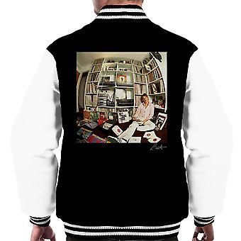 Paul Weller With Record Collection Men's Varsity Jacket